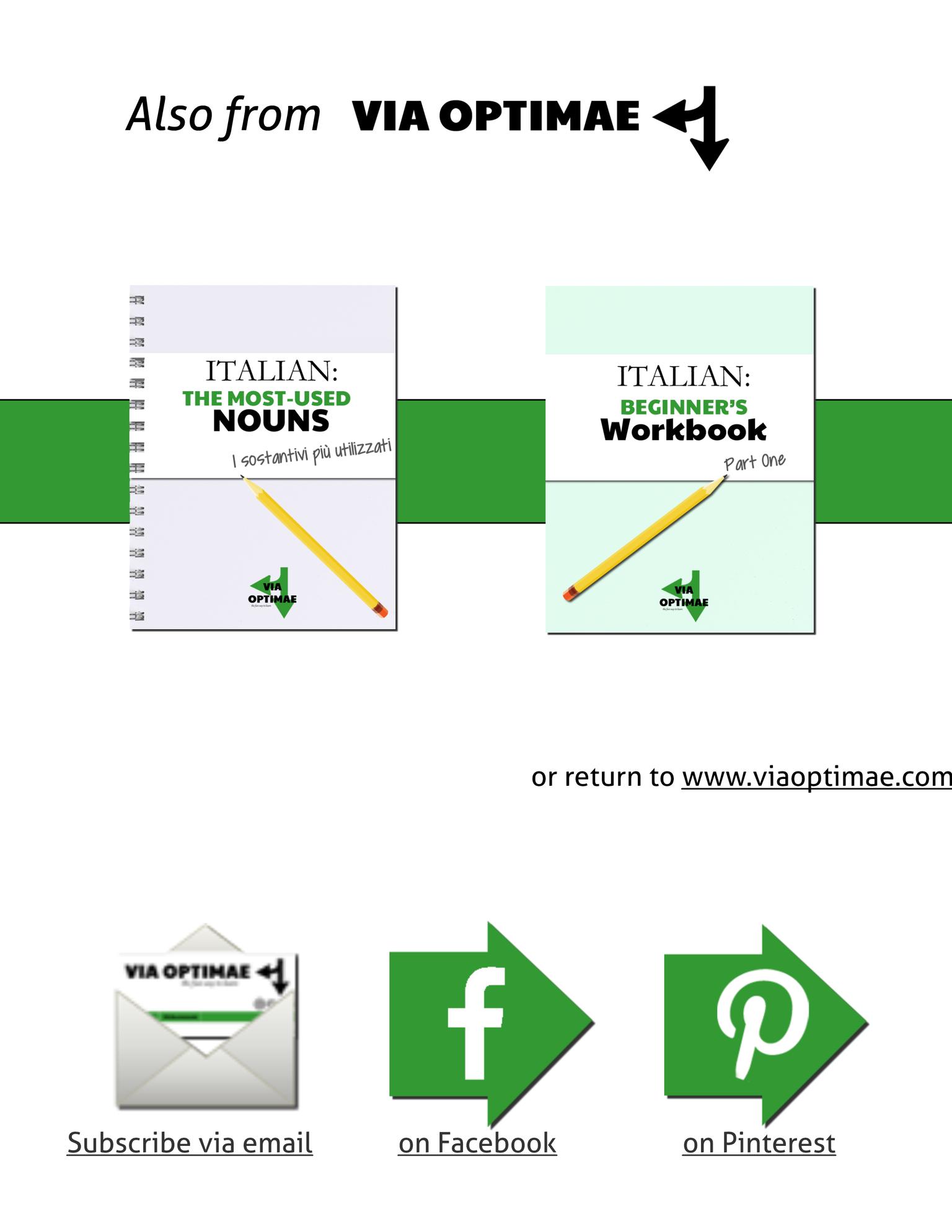 Italian Workbooks The Basics Workbook Part One