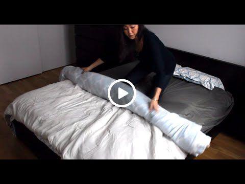 voici une ing nieuse astuce pour changer votre housse de couette trucs. Black Bedroom Furniture Sets. Home Design Ideas