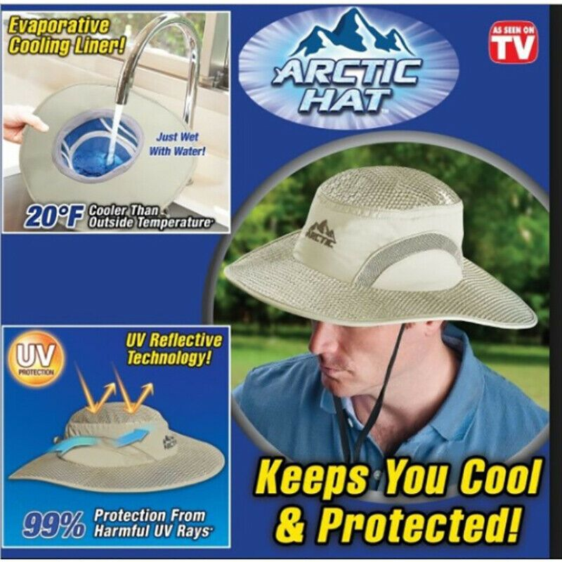 Ebay Sponsored Hydro Cooling Bucket Hat Arctic Hat With Uv