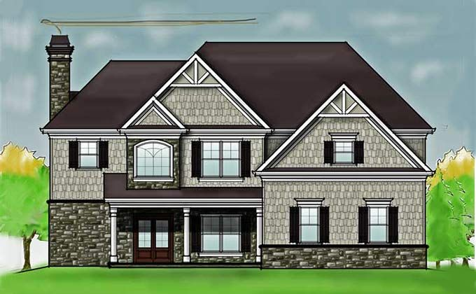 2 Story 4 Bedroom Rustic House Floor Plan by Max Fulbright ...