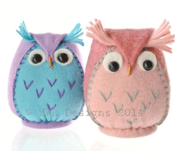Felt Owl pattern,PDF Downloadable Pattern for Felt owl Plushie ...