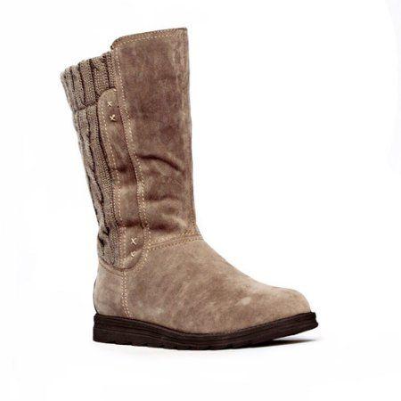 MUK Luks Womens Stacy Tall Sweater Boot, Women's, Size: 10, Brown