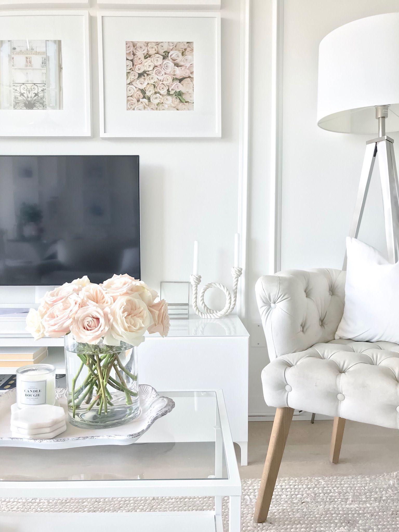 Living Room Condo Decorating: Condo Living Room Design I White Interior I Toronto