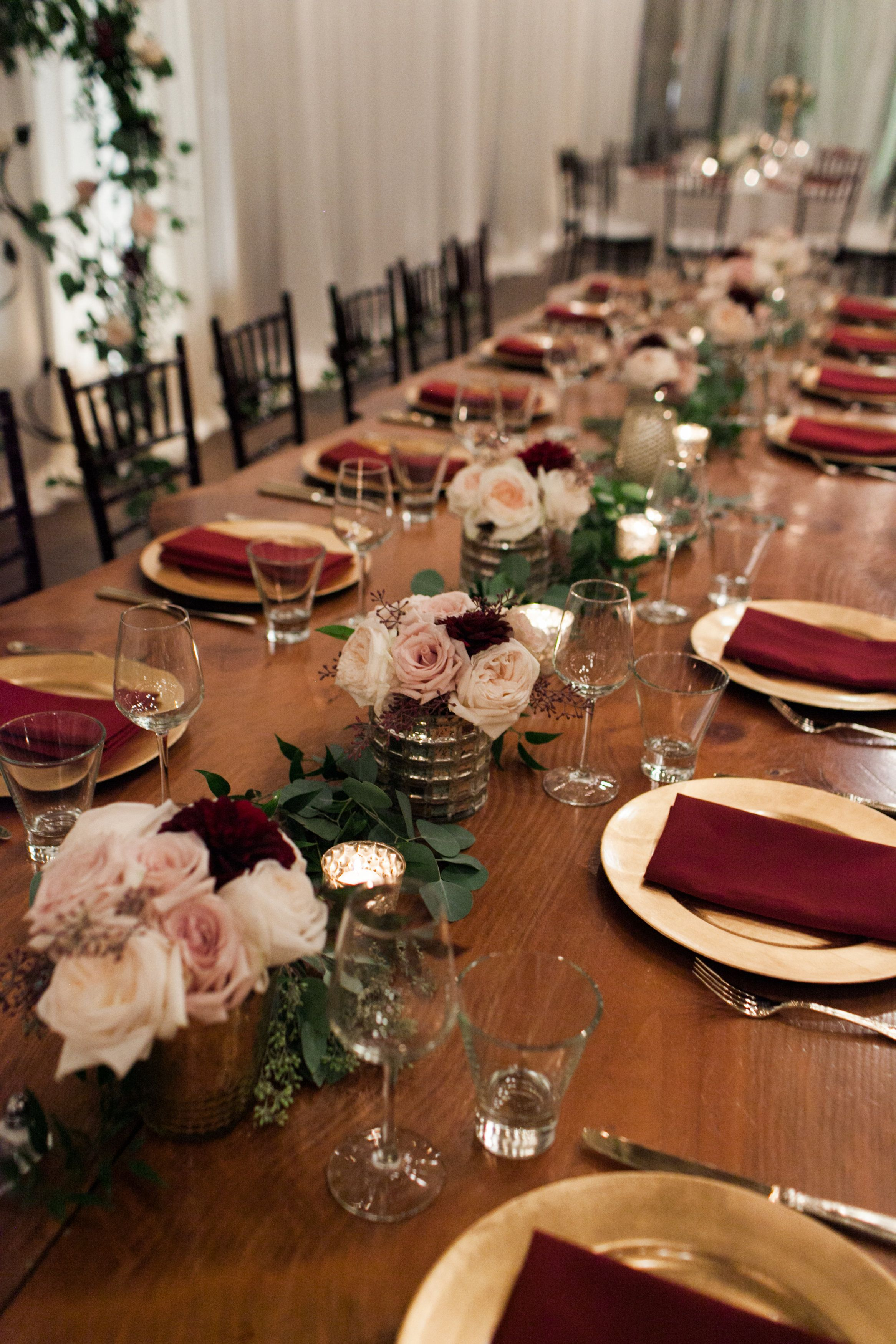 Wedding dinner decoration ideas  Sodo Park Wedding  Seattle Planning by Wedding Wise  Kate Price