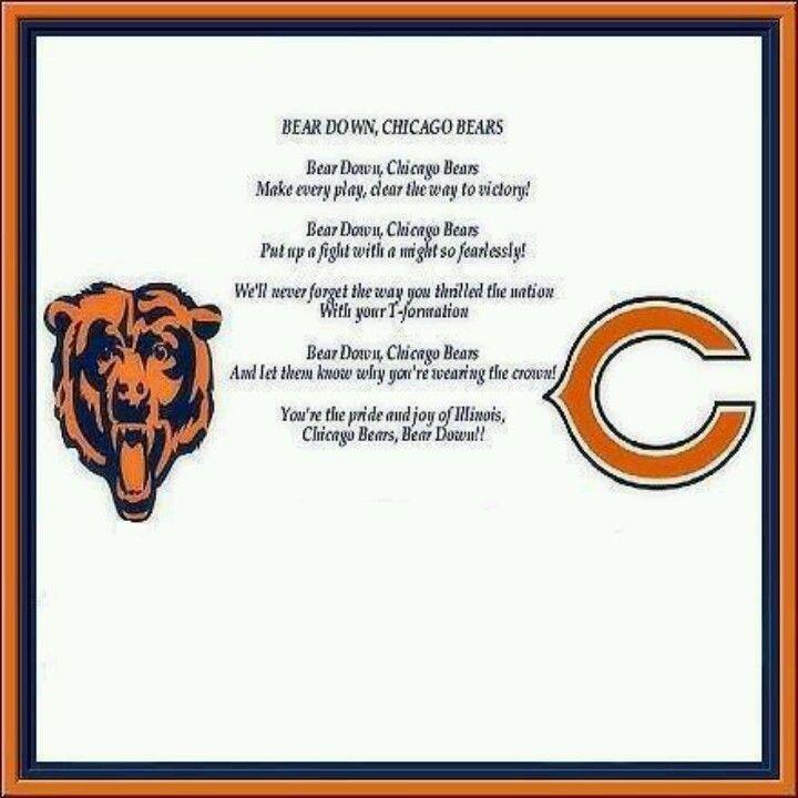 Bear Down Chicago Bears Chicago Bears Logo Chicago Bears Funny Chicago Bears