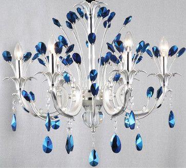 Modern Peacock Blue Crystal Chandelier Contemporary Chandeliers Crystal Chandelier Crystal Chandelier Lighting Modern Light Fixtures