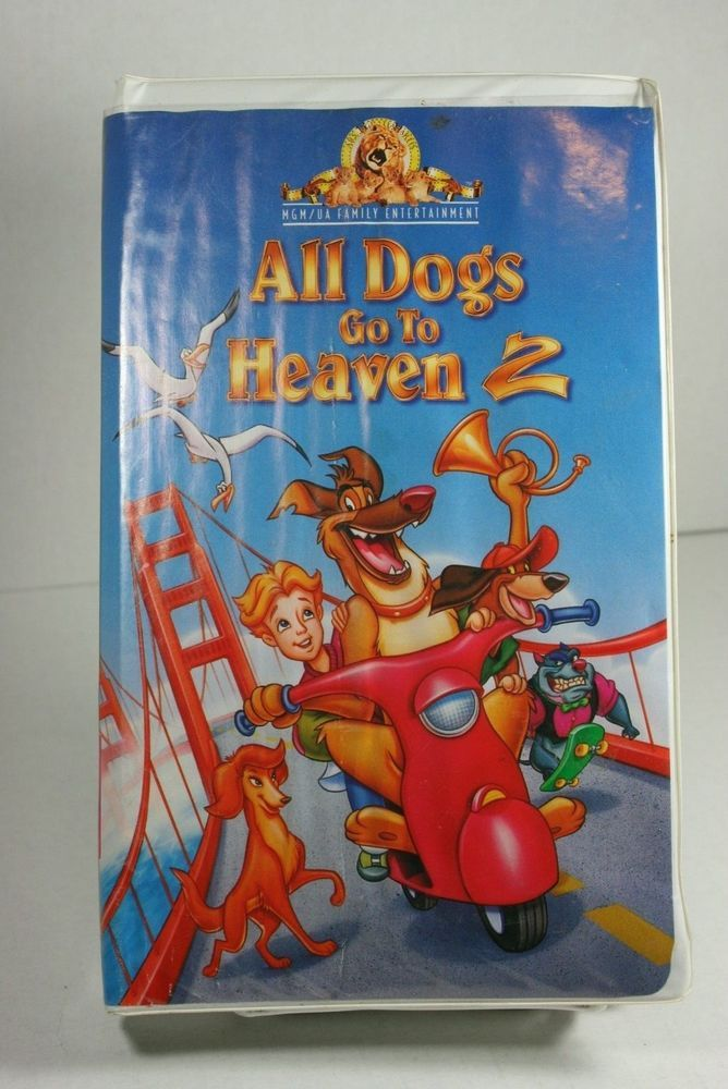 All Dogs Go To Heaven 2 Vhs 1996 Clam Shell Free S H All