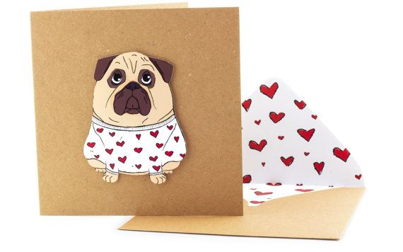 Hey, I found this really awesome Etsy listing at https://www.etsy.com/listing/196474707/handmade-valentines-card-funny-pug-in