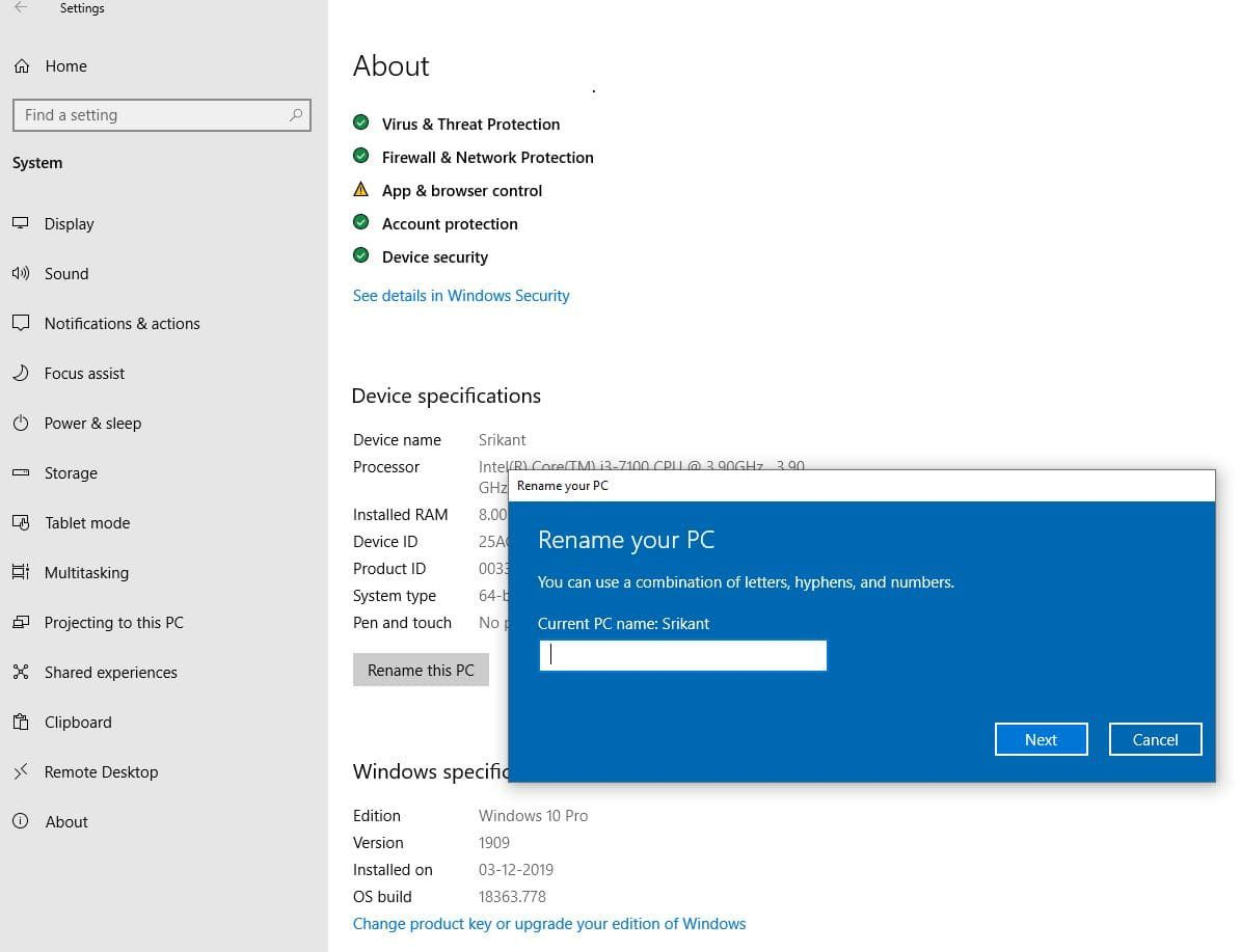 How To Change Computer Name Windows 10 In 2020 How To Memorize Things Windows 10 New Laptops