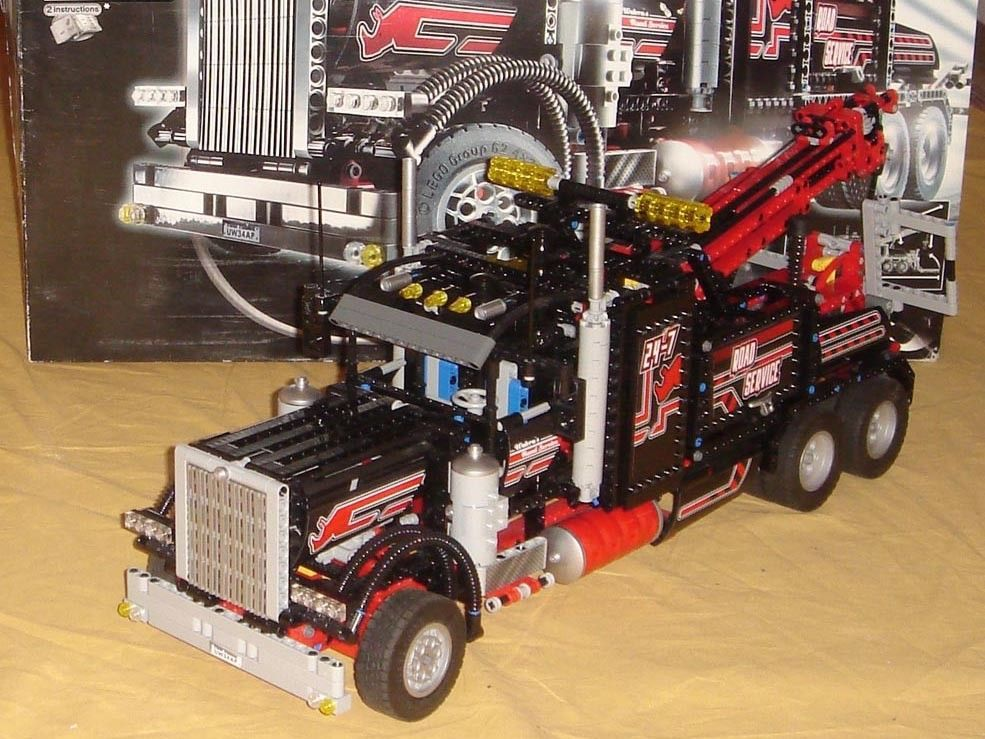 Lego Technic 8285 Big Black Tow Truck With Pneumatic Instructions