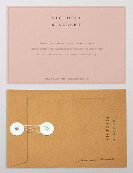 Pastel Paper Invitation With A Romantic Manila Envelope