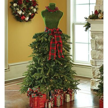 Member's Mark Premium 5' Dress Form Tree-Red & Green | christmas ...
