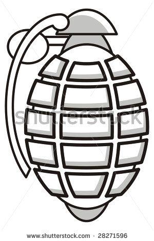 how to draw a grenade cartoon art illustration of a grenade rh pinterest com Clip Art with Transparent Background Grenade Silhouette