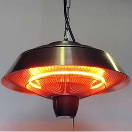 Free Shipping Buy Energ 1500 Watt Hanging Electric Infrared Gazebo Heater Brushed Aluminum At Walmart Com Infrared Heater Pendant Light Heater