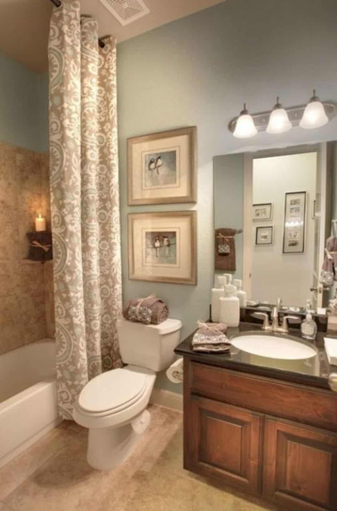 17 Awesome Small Bathroom Decorating Ideas Scandinavian Bathroom Brown Bathroom Decor Brown Bathroom