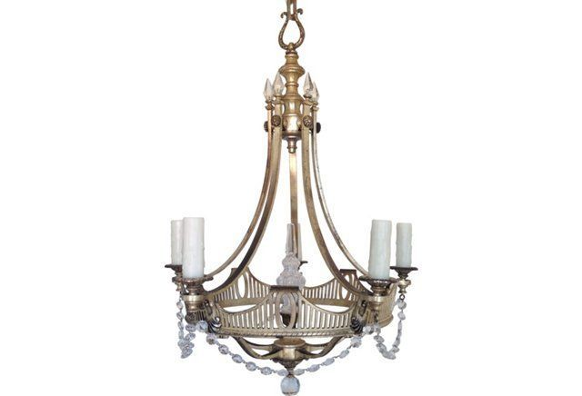 1920s Neoclassical Style Chandelier Chandelier Ceiling Lamp Gustavian Style