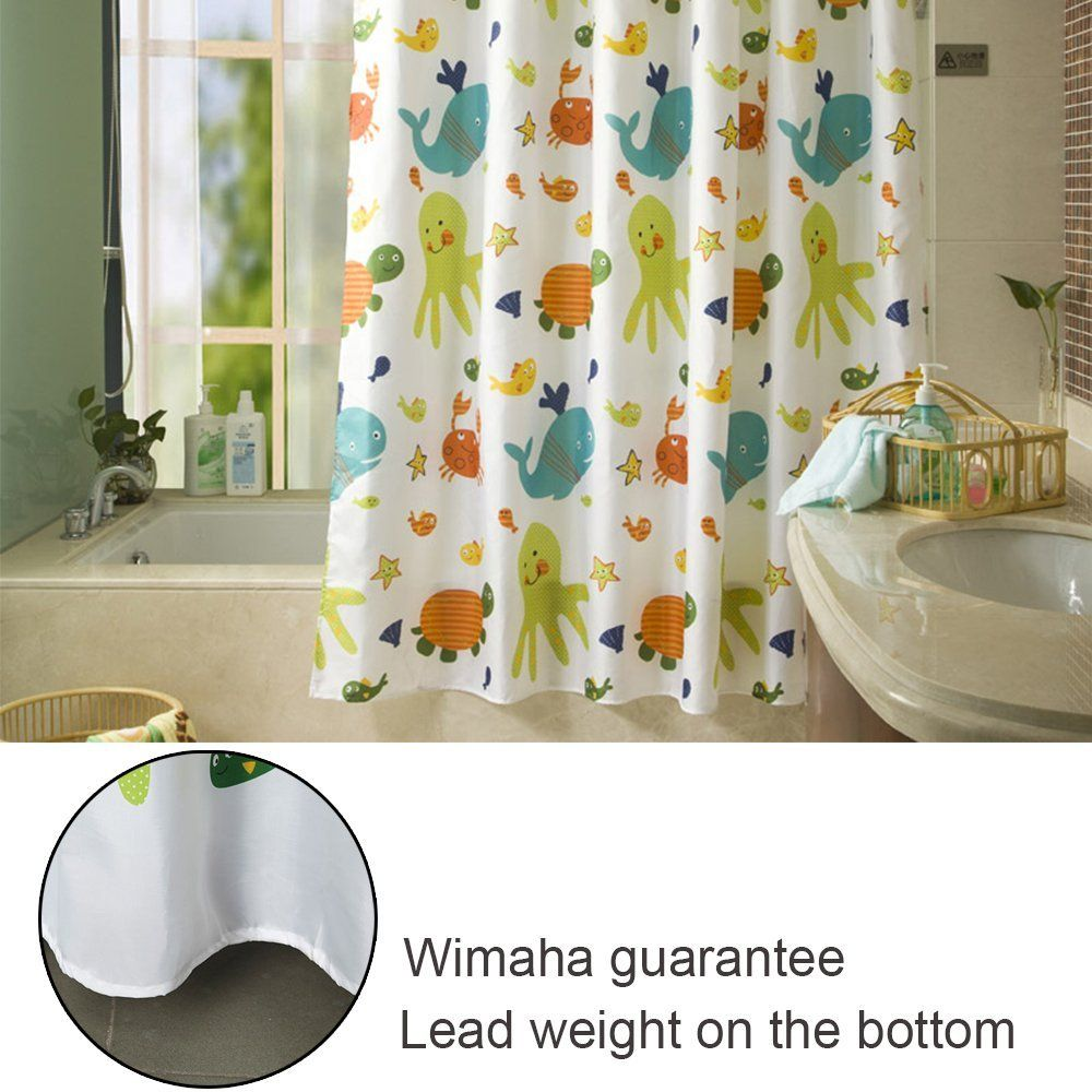 Under the sea peva shower curtain blue walmart com - Amazon Com Latest Style Children Cartoon Shower Curtain Wimaha Eco