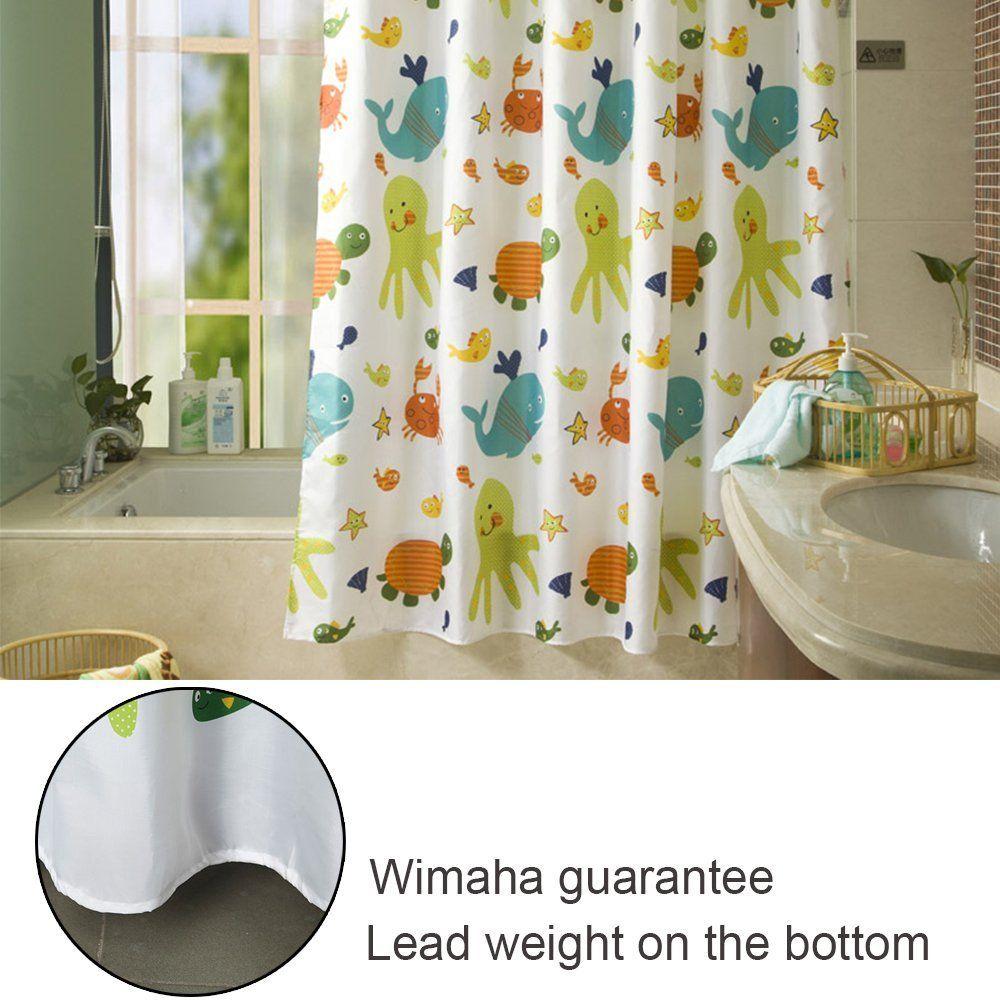 Amazon Com Latest Style Children Cartoon Shower Curtain Wimaha
