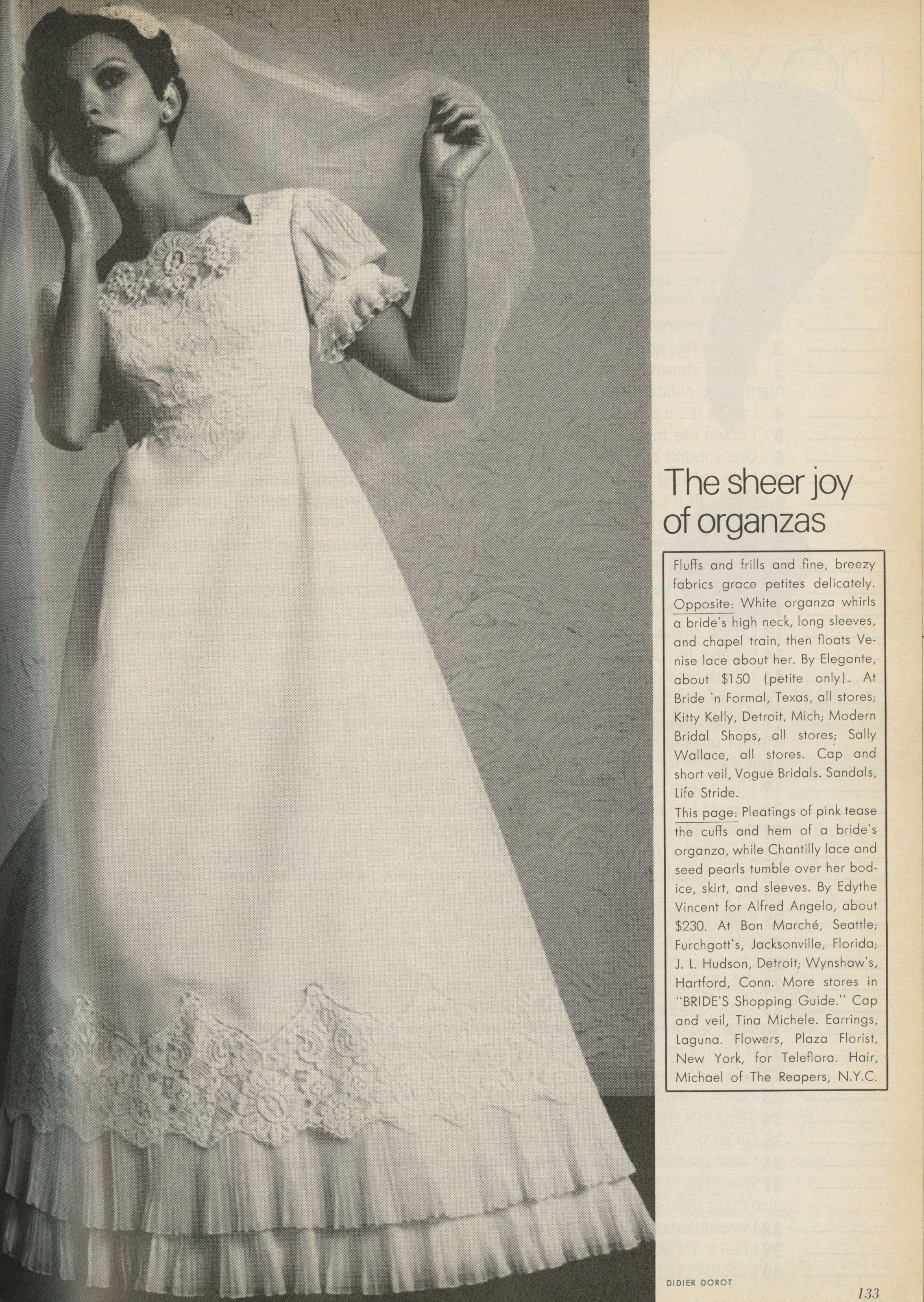 Alfred Angelo vintage designer fashion bride ad from 1975 | Bridal ...