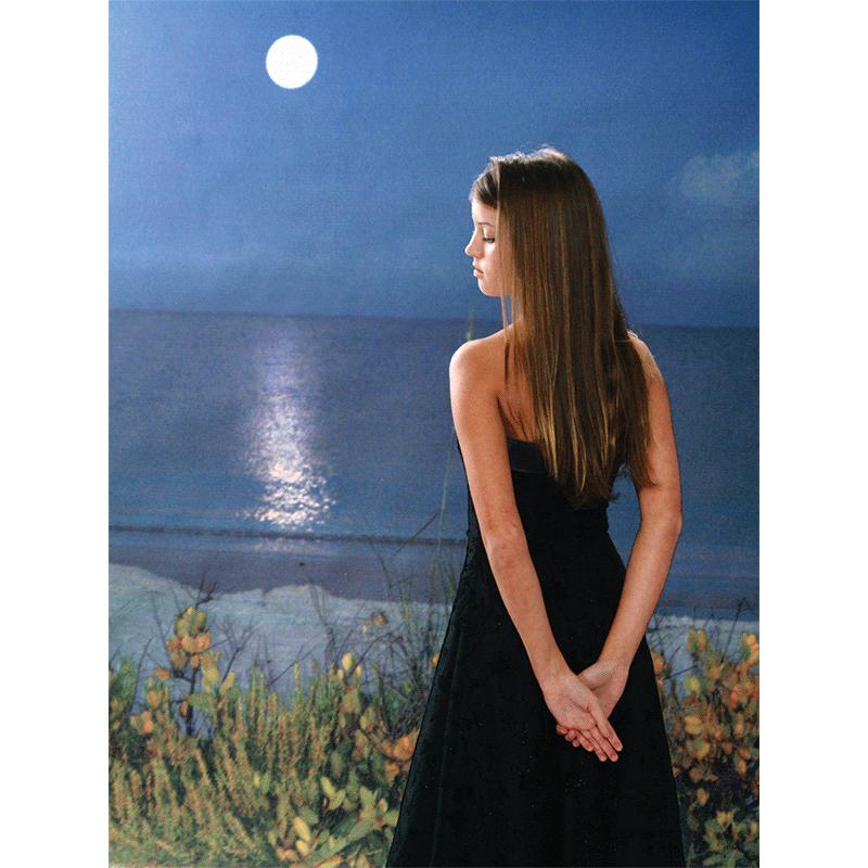 Name -Moonlit Beach Printed Photography Backdrop SKU - CP-6063