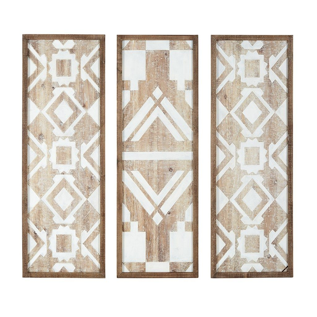Madison park mandal printed wood wall decor set of wood walls