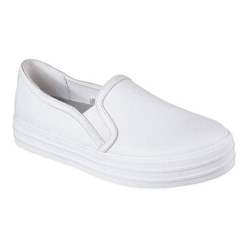 Women's Skechers OG 97 Double Up Sleek Street Slip On Sneaker White/