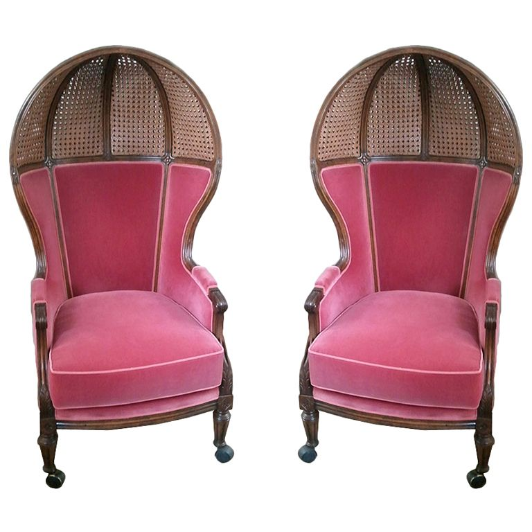 Pair of antique spanish caned canopy chairs  sc 1 st  Pinterest : canopy spanish - memphite.com