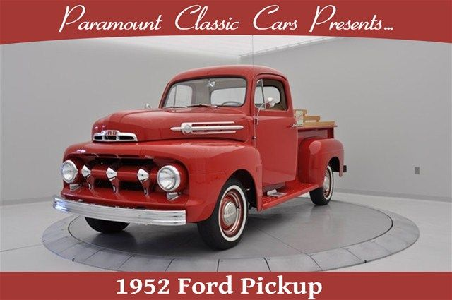 1952 #Ford Pickup, Coral Flame Red, Paramount Classic Cars