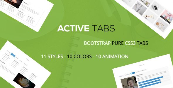 Active - A Responsive Bootstrap Pure CSS3 Tabs   Template