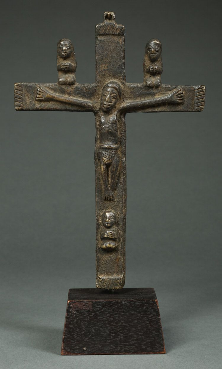 Antique African Crucifix Kongo Tribe Dr Congo 16th 19th