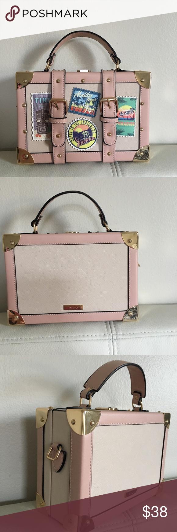 ea75054555a ALDO Calini mini box bag Styled to look like a mini suitcase. Super cute!  NWT. Aldo Bags Crossbody Bags