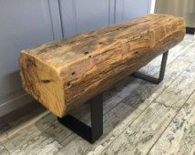 Pleasing 150 Year Old Reclaimed Barn Beam Bench On Heavy Black Iron Ibusinesslaw Wood Chair Design Ideas Ibusinesslaworg