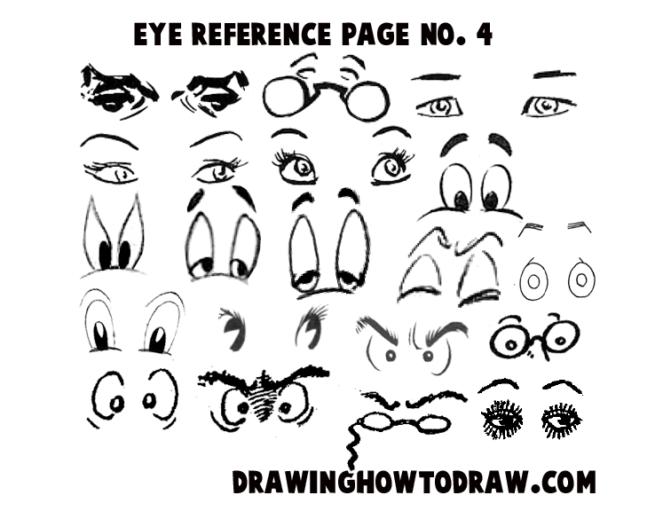 Drawing Cartoon Illustrated Eyes Reference Sheets How To Draw Step By Step Drawing Tutorials Drawing Cartoon Faces Cartoon Drawings Cartoon Cat Drawing