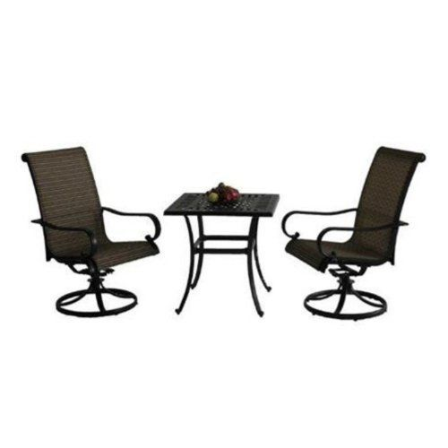 bastiano collection bistro set by bellini home and gardens table 28l x 28w x 28h. Black Bedroom Furniture Sets. Home Design Ideas