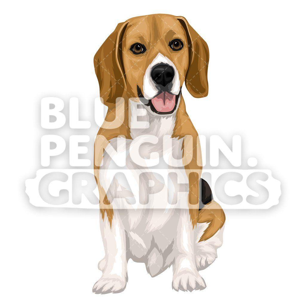 Beagle Dog Version 9 Vector Cartoon Clipart Illustration Dog