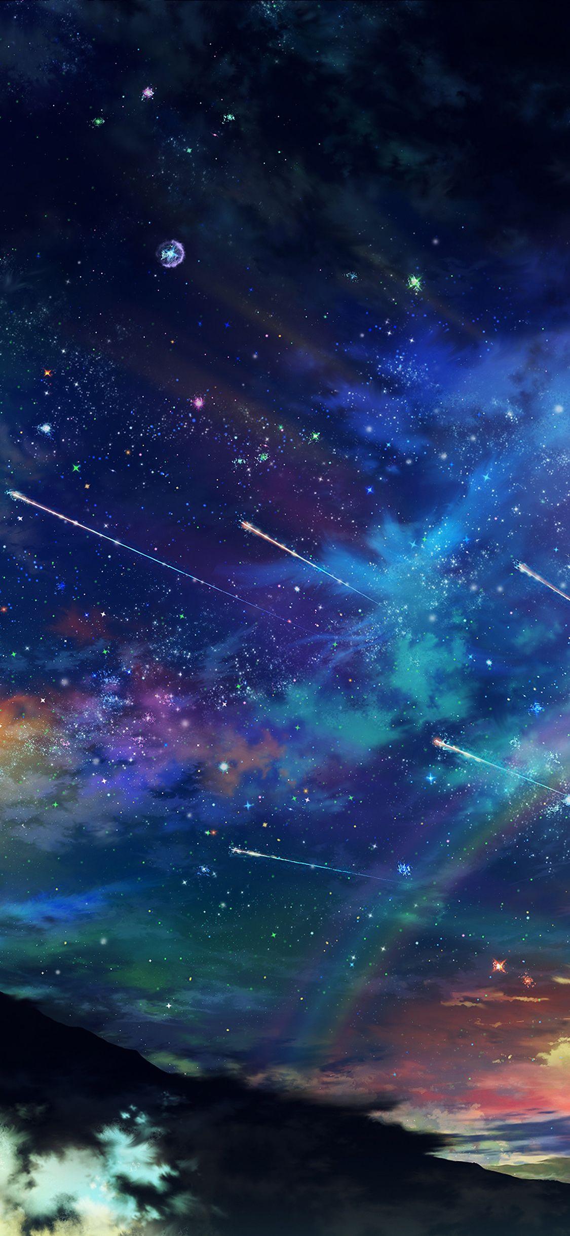 Iphonex Wallpaper Am61 Amazing Wonderful Tonight Sky Dark Star