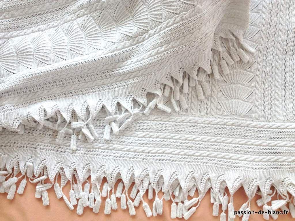 Linge ancien tr s belle courte pointe ou dessus de lit aux aiguilles en coton tr s fin blanc - Dessus de lit pique de coton ...