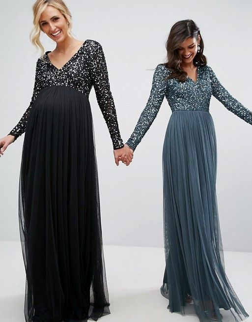 Discover Fashion Online Maternity Bridesmaid Dresses Dresses For Pregnant Women Maxi Dress With Sleeves