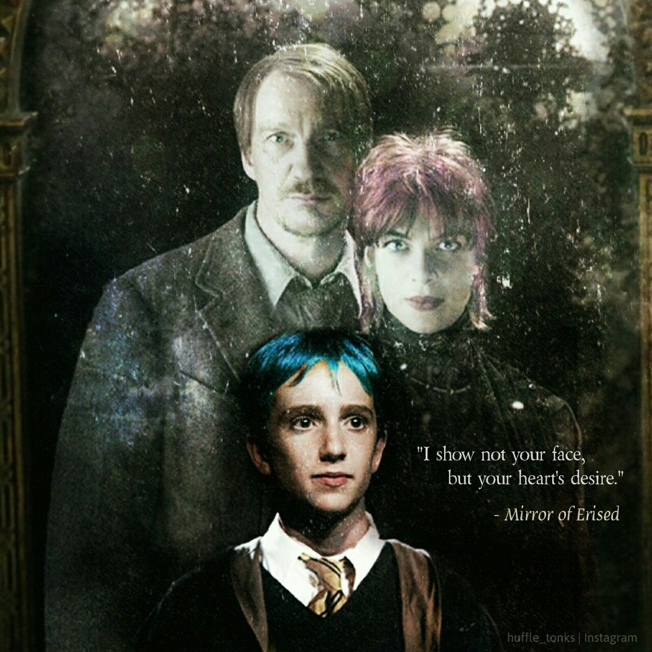 Teddy Lupin Discovers The Mirror Of Erised On His First Year At Hogwarts Lupin Harry Potter Tonks Harry Potter Teddy Lupin