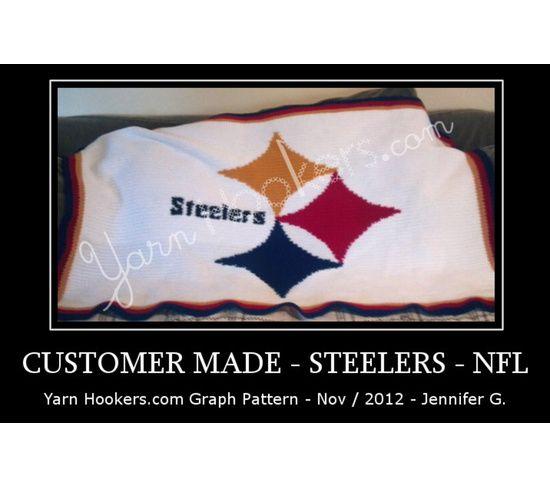 Pittsburgh Steelers NFL - Afghan Crochet Graph Pattern Chart, $5.0