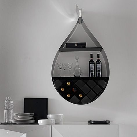 How Is Your Wine Collection Shaping Up? This Rain Drop Shaped Cabinet Is  Wall Mounted