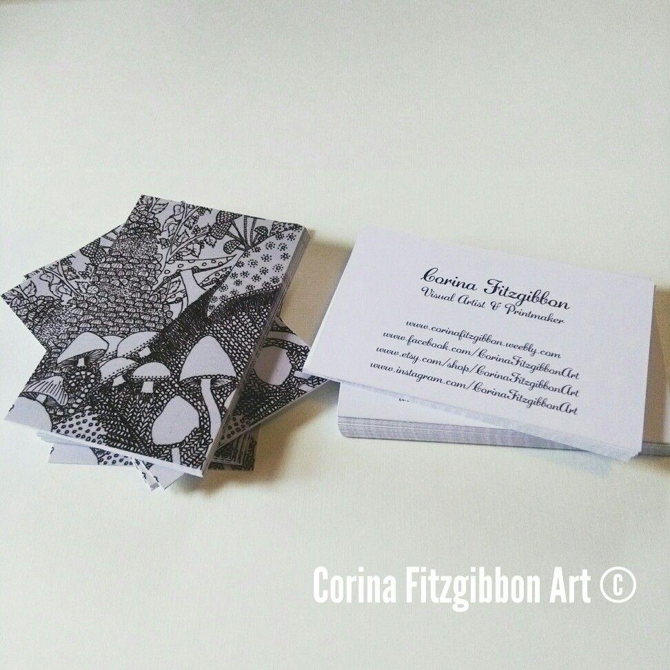 My Lovely Mushroom Business Cards Corinafitzgibbonart Business