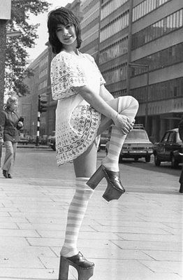 Prom dress 70s knee socks