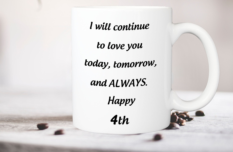 4 Year Anniversary Gift For Her 4th Anniversary