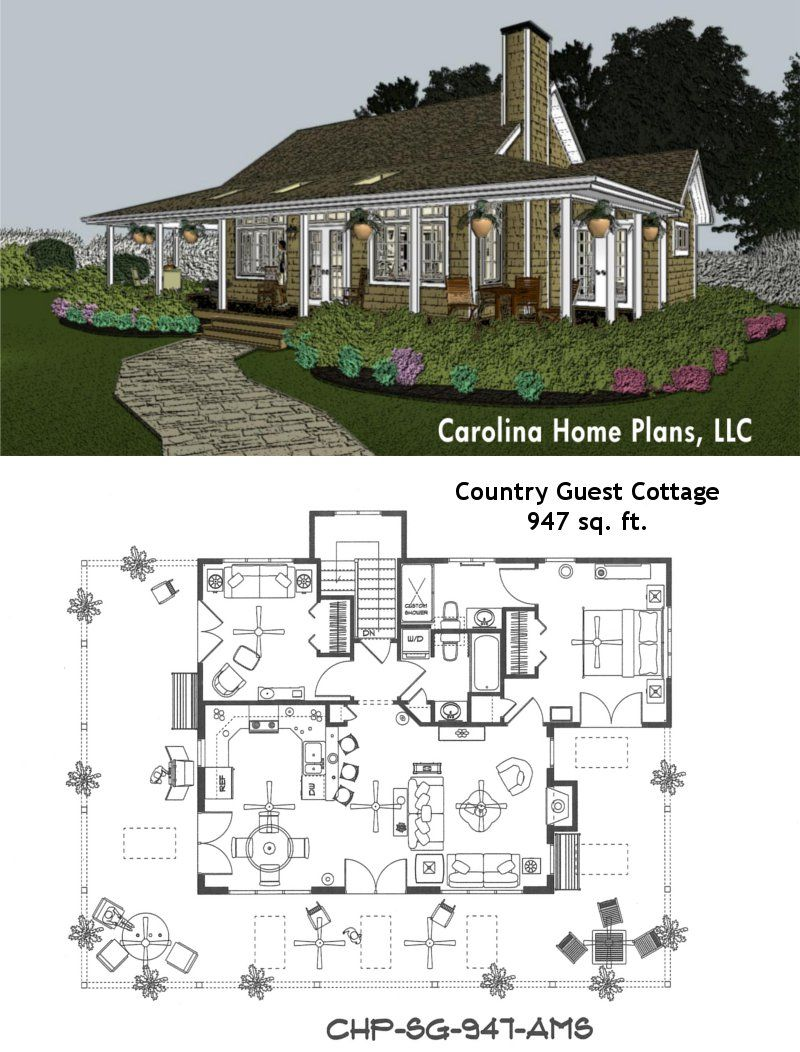 Pin by Carolina Home Plans, LLC on House Plans with Porches | Porch house  plans, Cottage house plans, Ranch style house plans