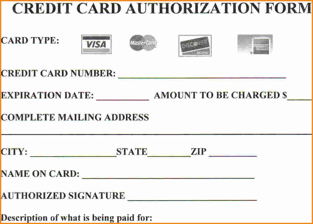 Credit Card Authorization Form Template Word For Web You Might Also Need Some