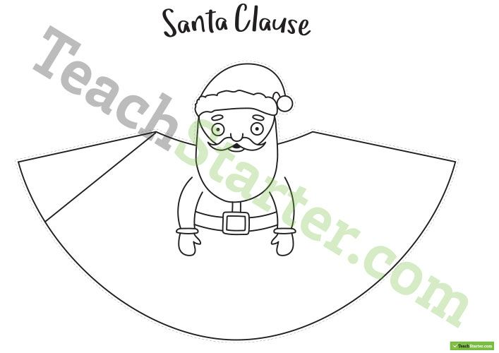 Santa Tree Topper Template Teaching Resource Teach Starter Tree Toppers Christmas Activities For Kids Christmas Tree Toppers