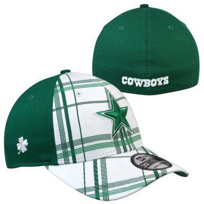 1bab918f79fc8 New Era Dallas Cowboys St. Patrick s Day Plaidtastic 39THIRTY Flex Hat -  Kelly Green White