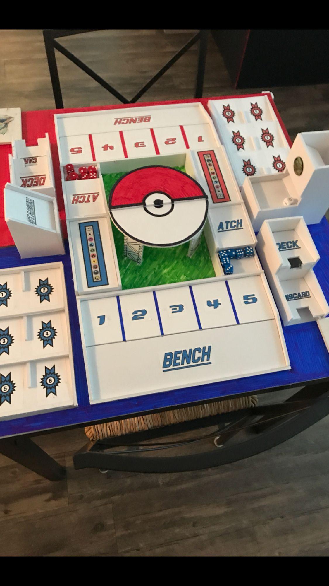 Pokemon Tcg Table Pokemon Diy Pokemon Craft Card Game Table