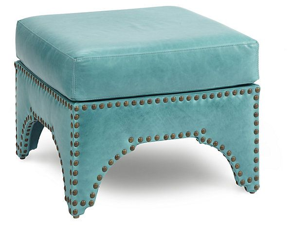 "Candemir 24"" Ottoman, Turquoise 